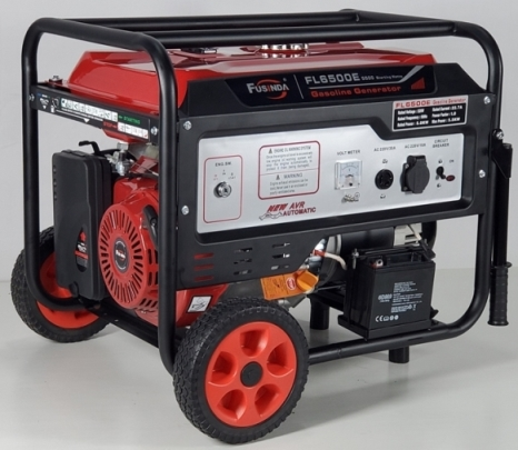 Fusinda 7kw Electric Gasoline Generator Set with Handle and Non Flat Wheels